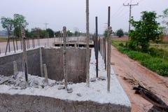 Errichten Sie einen konkreten Abfluss Konkrete Entwässerung Lizenzfreies Stockbild