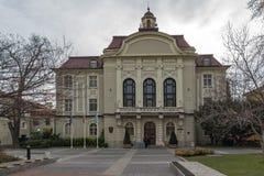 Errichten von Rathaus in Plowdiw, Bulgarien stockbild