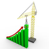 Errichtende Gewinne Stockfotos