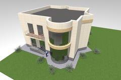 Errichtendes residental Design 3D Stock Abbildung