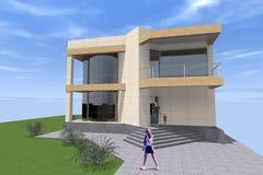 Errichtendes residental Design 3D Lizenzfreie Abbildung
