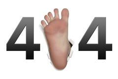 Erro 404 Fotografia de Stock Royalty Free