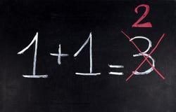 Erro da matemática Fotos de Stock Royalty Free