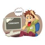 Erro do computador ilustração stock