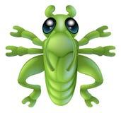 Erro do inseto do gafanhoto dos desenhos animados Fotos de Stock