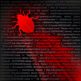 Erro do vírus Imagens de Stock