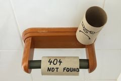 Erro 404 - emoção não encontrada e triste do Web site Foto de Stock Royalty Free