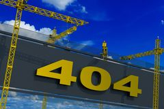 Erro 404 não encontrado Fotografia de Stock