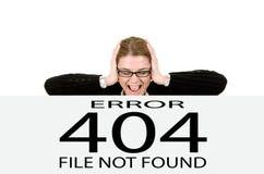 Erro 404 não encontrado da página Fotos de Stock