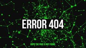 Erro não encontrado 404 da página ilustração royalty free