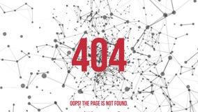 Erro não encontrado 404 da página ilustração stock