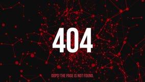 Erro não encontrado 404 da página ilustração do vetor