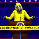 Erro presidencial de Ebola imagens de stock