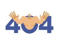 Erro 404 surpresa do atleta O molde não encontrado da página para a Web senta-se Fotografia de Stock Royalty Free