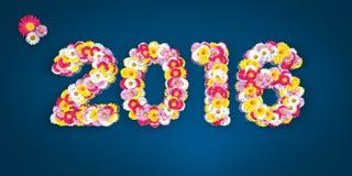 Erro tipográfico floral 2016 Imagem de Stock