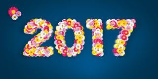Erro tipográfico floral 2017 Fotografia de Stock Royalty Free