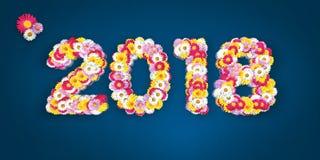 Erro tipográfico floral 2018 Imagens de Stock Royalty Free