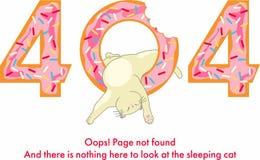 Erro 404 Uma poupança engraçada da imagem para o local ilustração do vetor