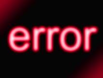 Erro vermelho Fotos de Stock
