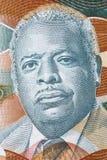 Errol Barrow a portrait. Errol Barrow portrait from Barbadian dollars royalty free stock image