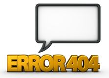 Error 404 Imágenes de archivo libres de regalías