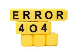 Error Foto de archivo libre de regalías