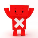 Error 3D character. 3D character with an error sign Stock Images