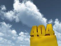 Error 404 Stock Photography