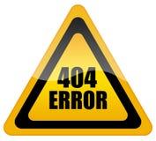 Error 404 Fotografía de archivo