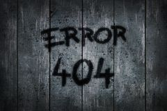 Error 404. On old wooden planks - illustration vector illustration