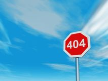 Error 404 Royalty Free Stock Photography