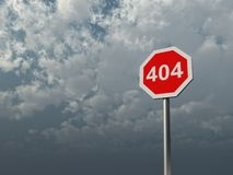 Error 404 Royalty Free Stock Photography