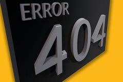Error 404 Imagen de archivo libre de regalías