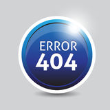 Error 404 blue button Royalty Free Stock Photo