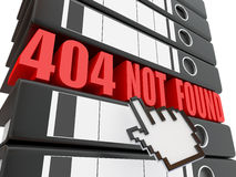Error 404. Fichero no encontrado. Carpetas Foto de archivo