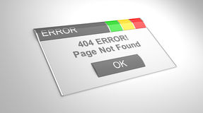 Error 404. Page not found. Royalty Free Stock Image