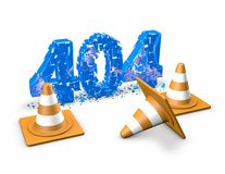 404 error abstract 3d illustration. Royalty Free Stock Image