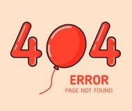 404 error with balloon error design template for website background graphic. 404 error with balloon error design template for website background Stock Images