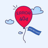 404 error balloon Royalty Free Stock Images