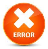 Error (cancel icon) elegant orange round button Stock Image