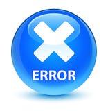 Error (cancel icon) glassy cyan blue round button Royalty Free Stock Photos