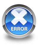 Error (cancel icon) glossy blue round button Royalty Free Stock Image