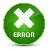 Error (cancel icon) elegant green round button Royalty Free Stock Photo