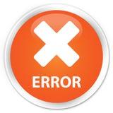 Error (cancel icon) premium orange round button Royalty Free Stock Images