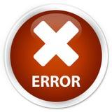 Error (cancel icon) premium brown round button Royalty Free Stock Images