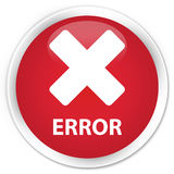 Error (cancel icon) premium red round button Royalty Free Stock Photo