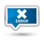 Error (cancel icon) prime blue banner button Stock Photos