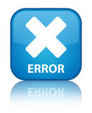 Error (cancel icon) special cyan blue square button Stock Photography
