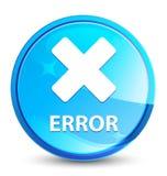 Error (cancel icon) splash natural blue round button. Error (cancel icon) isolated on splash natural blue round button abstract illustration vector illustration