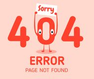 404 error with character zero error design template for website background graphic. 404 error with character zero error design template for website background Royalty Free Stock Photos